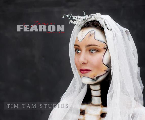 BRIDE artist Janie Fearon photo Tim Tam model Chantel