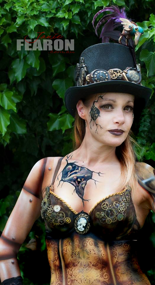 STEAMPUNK artist Janie Fearon photo Janie Fearon model Nikki Glover