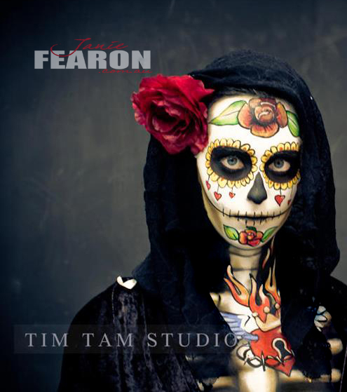 SUGAR SKULL artist Janie Fearon photo Tim Tammodel Chantel