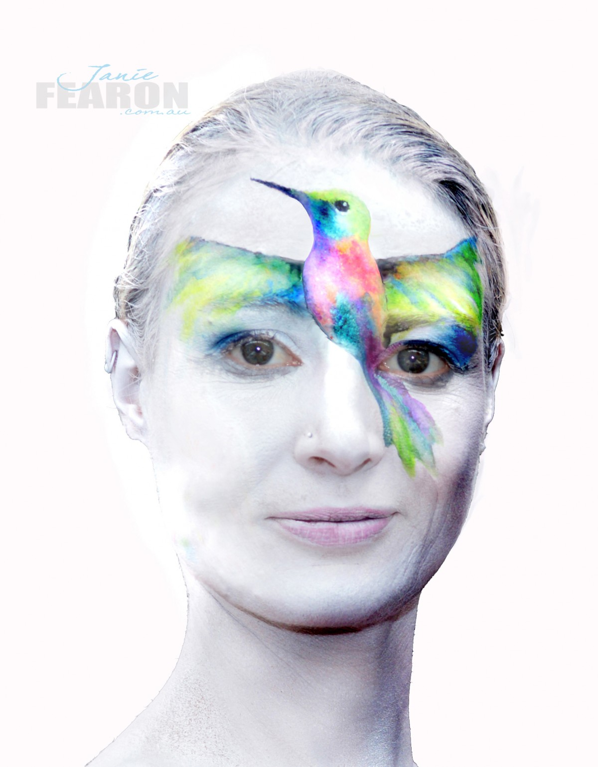 WATER COLOUR  artist Janie Fearon photo Janie Fearon model Heather Sims