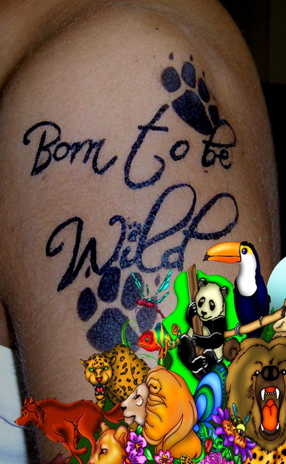 temporary tattoo born to be wild