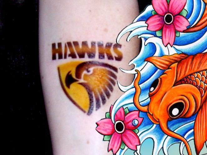 Hawks temporary  tattoo