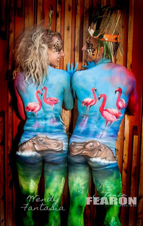 ZOO artIst Janie Fearon with Wendy Fantasia photo Janie Fearon