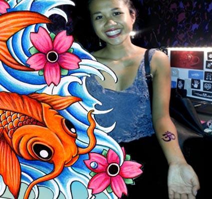 temporary tattoo party
